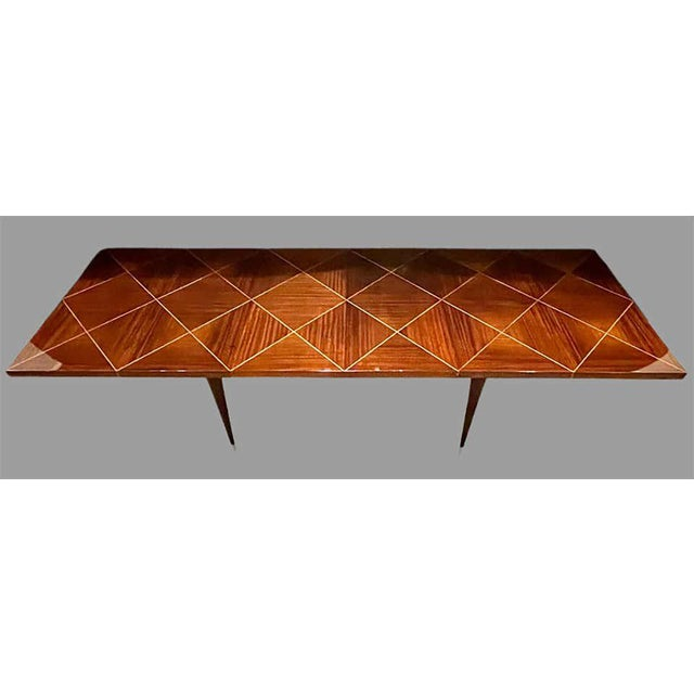 A Tommi Parzinger Originals Dining Table Fully Refinished With Two Leaves For Sale - Image 10 of 13