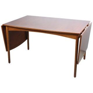 Teak Drop-Leaf Table by Børge Mogensen for Fdb Møbler For Sale