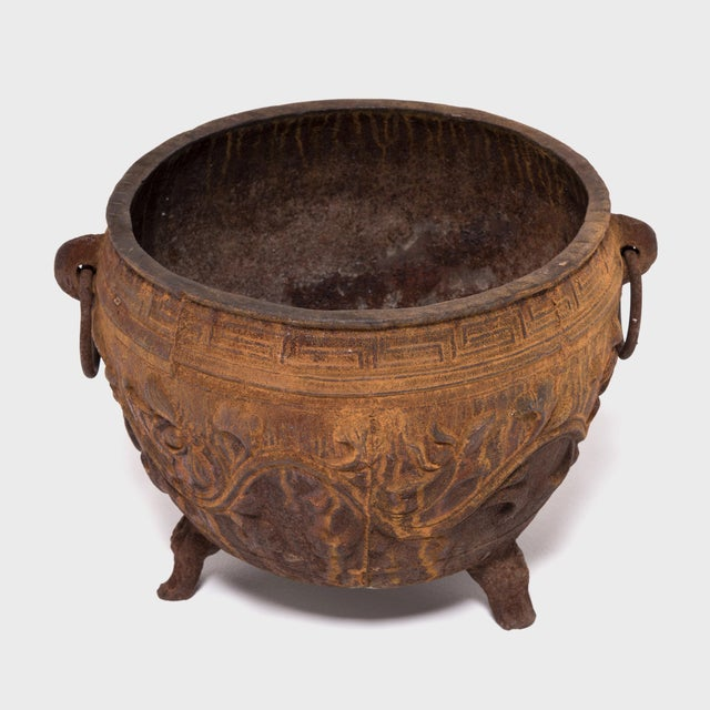 Chinese Cast Iron Lotus Basin For Sale In Chicago - Image 6 of 6