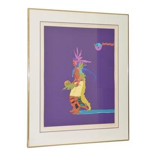 "John Nieto ""Indian Drum Dancer"" Original Serigraph Signed and Numbered C.1990 For Sale"