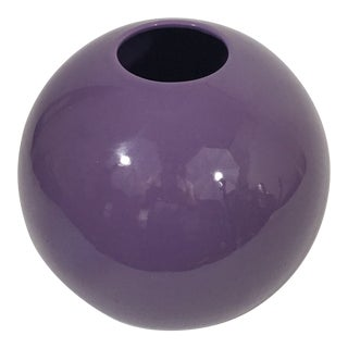 Pino Spagnolo for Sicart 1970's Purple Globe Vase For Sale