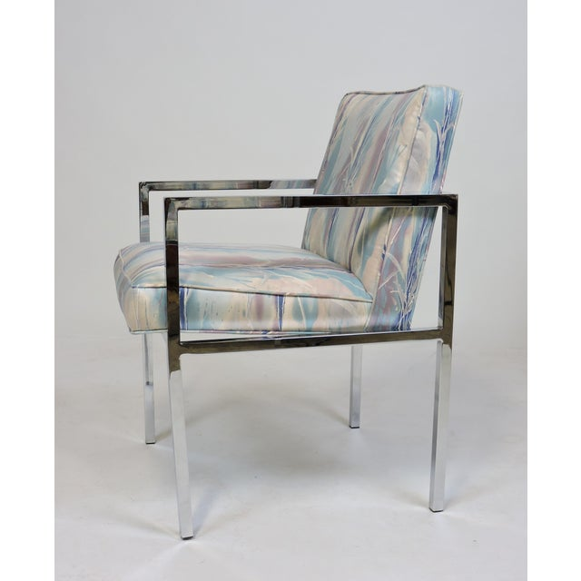 Chrome Six Design Institute of America Dia Mid-Century Modern Chrome Dining Chairs For Sale - Image 8 of 11