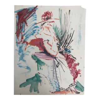 Modern Abstract Female Figure Painting by Robert Colborne For Sale
