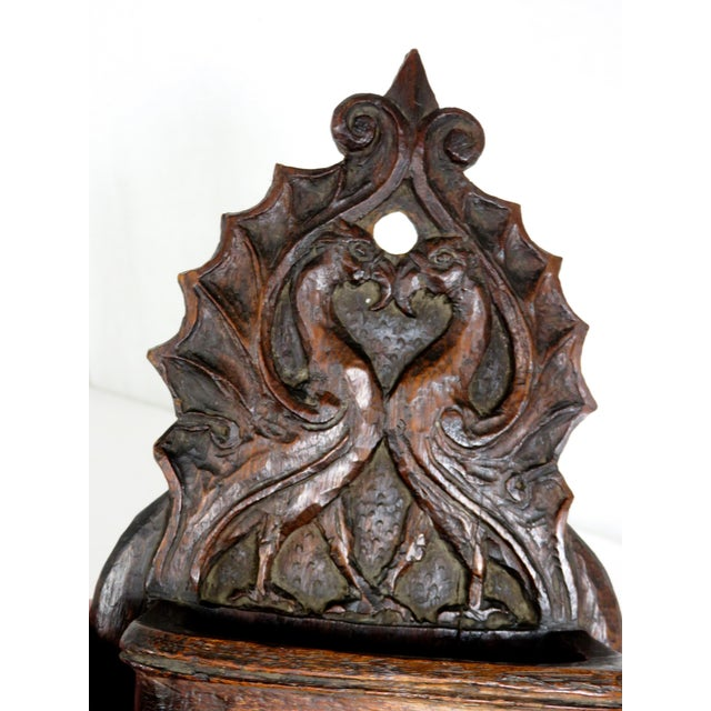 Late 19th Century Antique Griffin Wall Match Holder For Sale - Image 4 of 13
