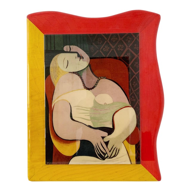 """1980s Pablo Picasso """"Le Reve"""" Gloss Lacquer Painting For Sale"""