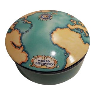 Tiffany & Co. Tauck World Discovery Porcelain Box For Sale