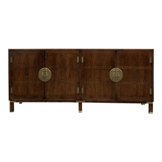 1960s Chinoiserie Michael Taylor for Baker Far East Collection Walnut Sideboard For Sale