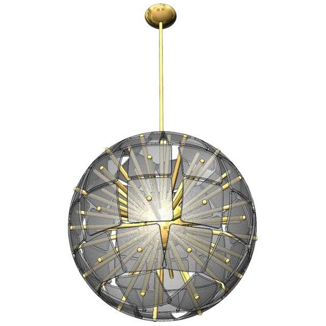 """Sputnik Rock Crystal Chandelier, """"Nova"""", Limited Edition For Sale"""