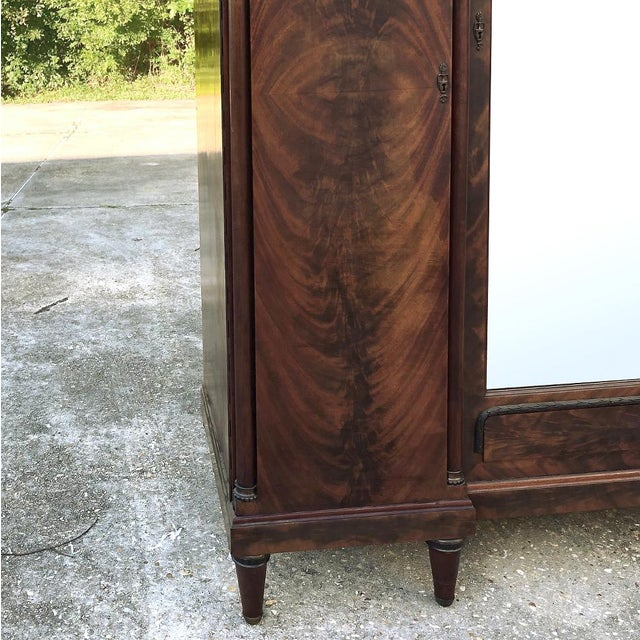 Brown Antique French Neoclassical Mahogany Armoire For Sale - Image 8 of 13