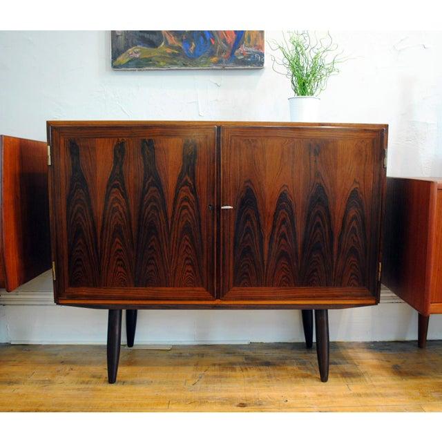 Danish Modern Rosewood 2 Door Cabinet - Image 2 of 10