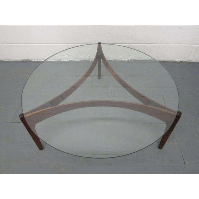 Mid-Century Modern Sven Ellekaer Danish Teak Coffee Table For Sale - Image 3 of 9
