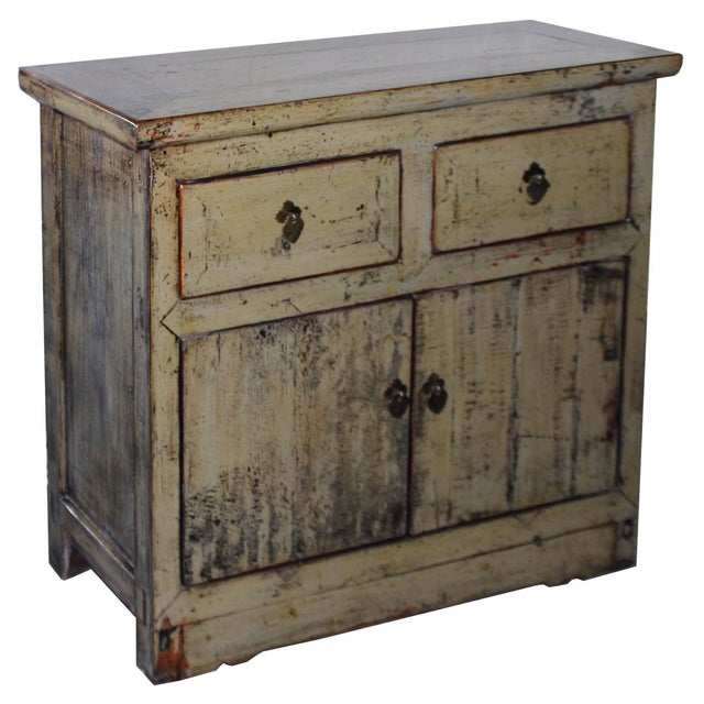 Khaki Shabby Chic Side Chest - Image 2 of 6