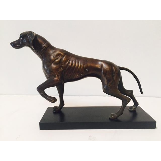 Bronze Hunting Dog Pointing Statue - Image 4 of 6
