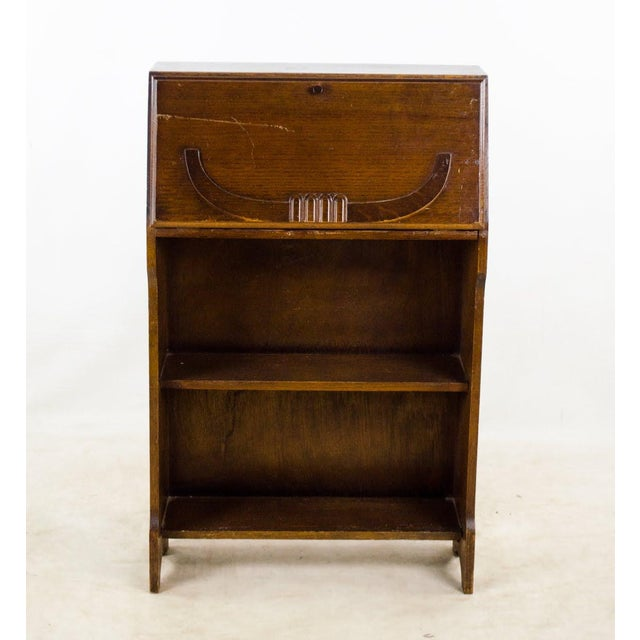 19th Century English Traditional Stand-Up Desk Bookshelf For Sale - Image 13 of 13