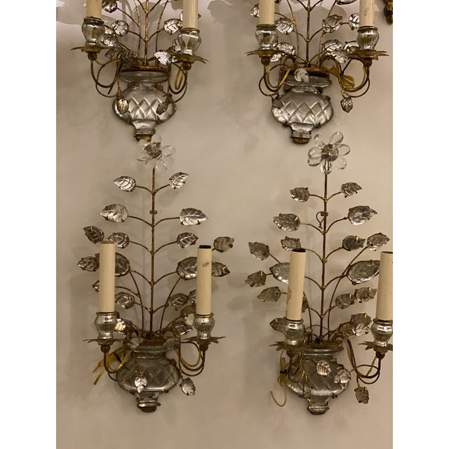 1920s Double Light Leaf Design Sconces - a Pair For Sale In New York - Image 6 of 8