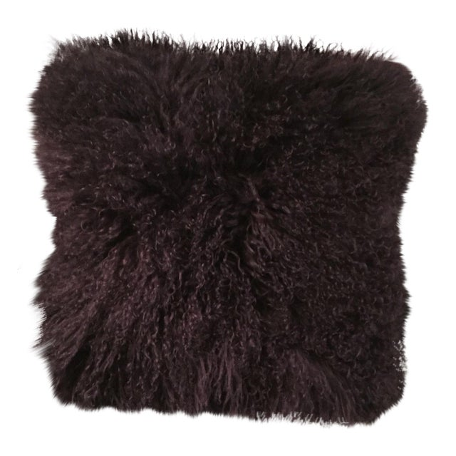Mongolian Fur Pillow For Sale