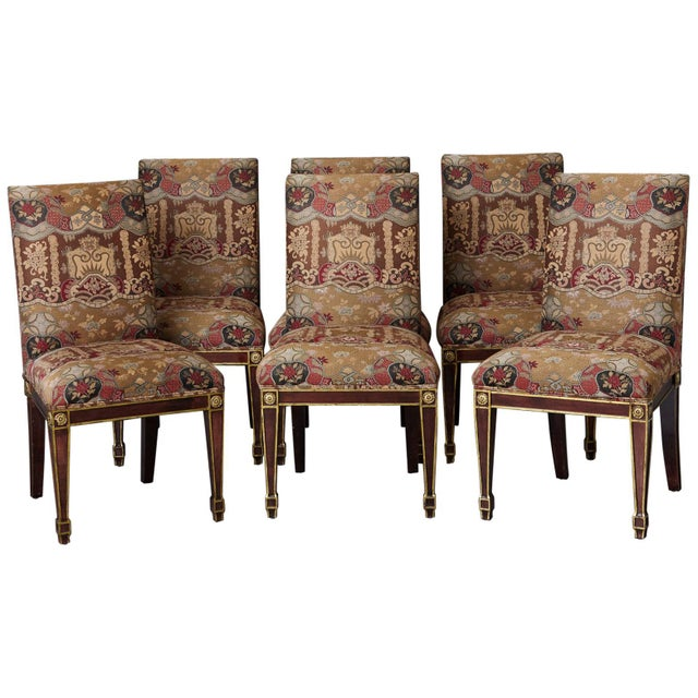 Set of 6 Regency Dining Chairs With Gild Elements For Sale - Image 13 of 13