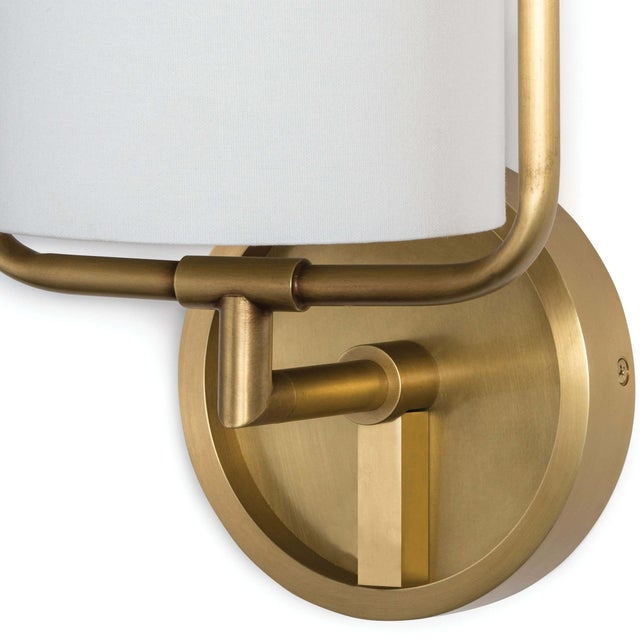 Geo Rectangle Sconce (Natural Brass) For Sale - Image 4 of 5