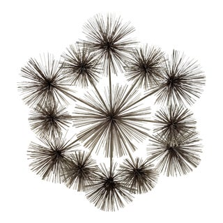 1970s Vintage C. Jere Brass Urchin Wall Sculpture For Sale
