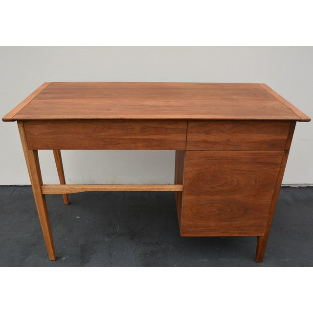 Brown Mid-Century John Van Koert for Drexel Profile Walnut Floating Desk For Sale - Image 8 of 10