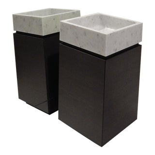 Blokko Marble Sink and Cabinet For Sale
