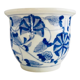 Small Ceramic Planter Chinoiserie For Sale