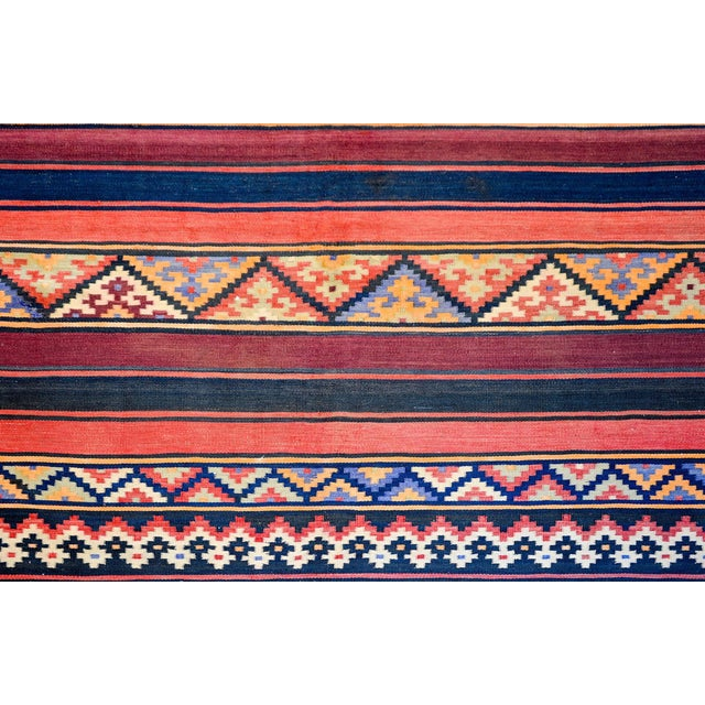 Early 20th Century Zarand Kilim Rug For Sale In Chicago - Image 6 of 8