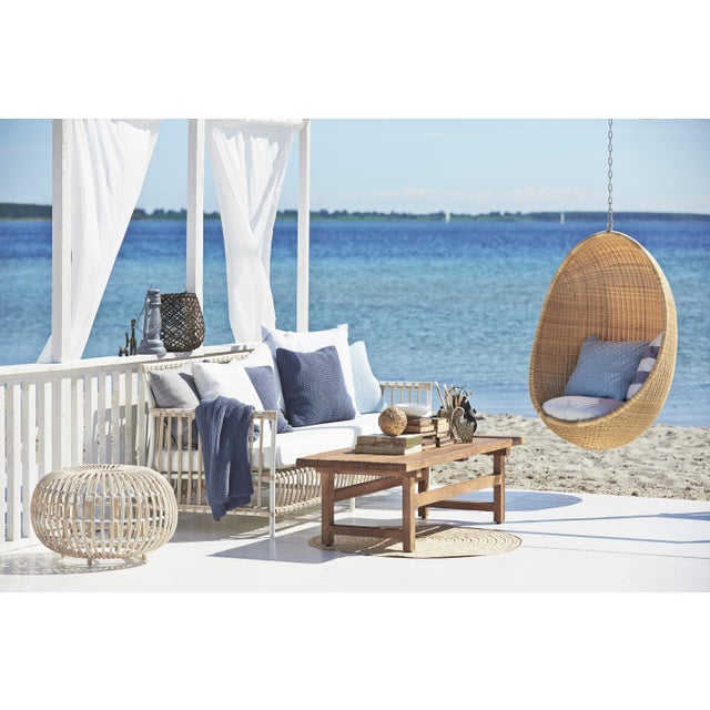 Caroline Exterior 3-Seater Sofa - Dove White - Tempotest White Canvas Seat and Back Cushions For Sale - Image 4 of 10