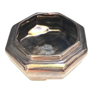 Haeger Coppery Metallic Octagon Planter For Sale