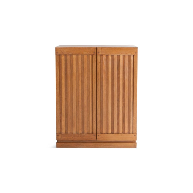 Minimalist Natural Oak Bar Cabinet For Sale - Image 12 of 12