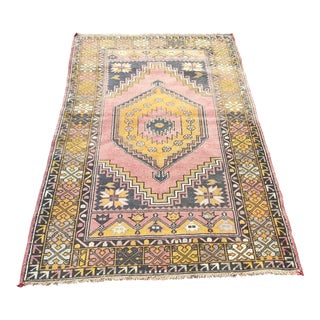 Turkish Oushak Faded Rug For Sale