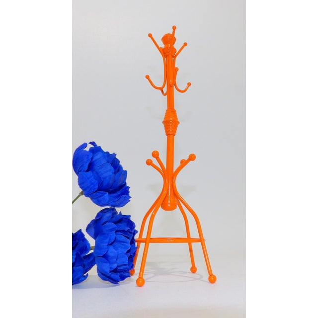 Late 20th Century Contemporary OrangeMetal Necklace Rack For Sale - Image 5 of 6