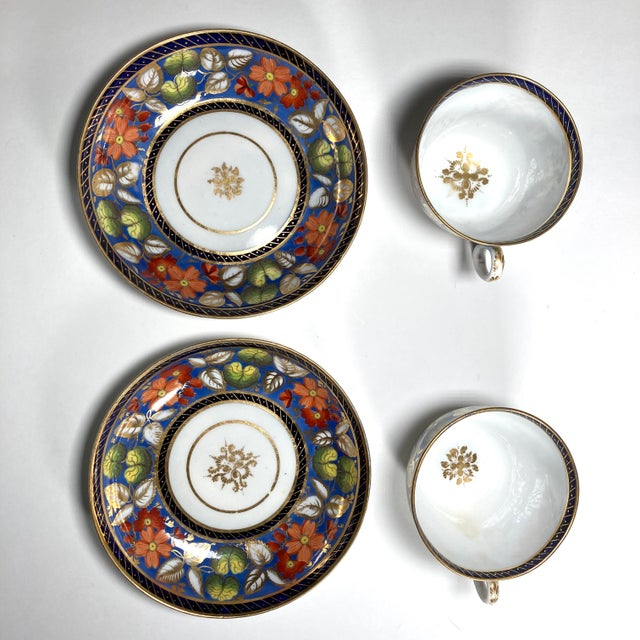 "English Early 19th Century English Georgian New Hall ""1126"" Porcelain Tea Service for 2 - Set of 5 Pieces For Sale - Image 3 of 7"