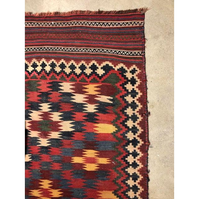 Boho Chic Antique Persian Kilim Qashqai Rug For Sale - Image 3 of 7