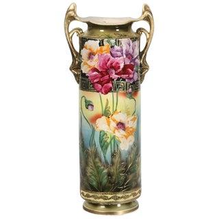 Nippon Porcelain Poppy Vase For Sale