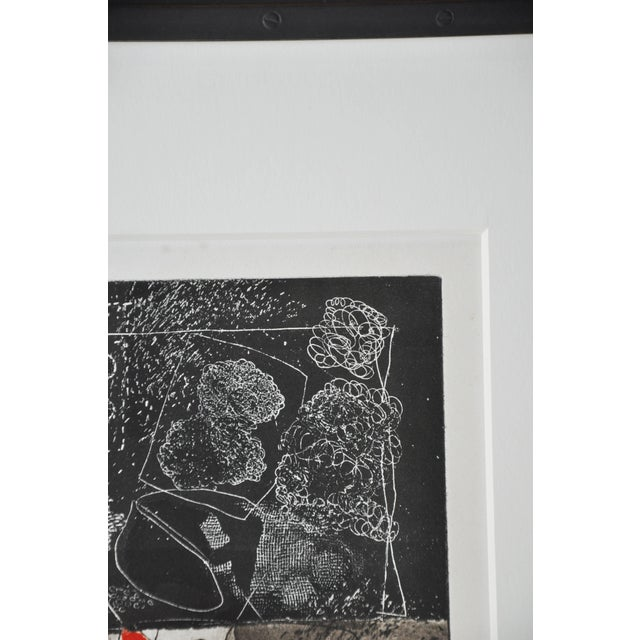 White Mid-Century French Etching Untitled, Numbered and Signed For Sale - Image 8 of 9