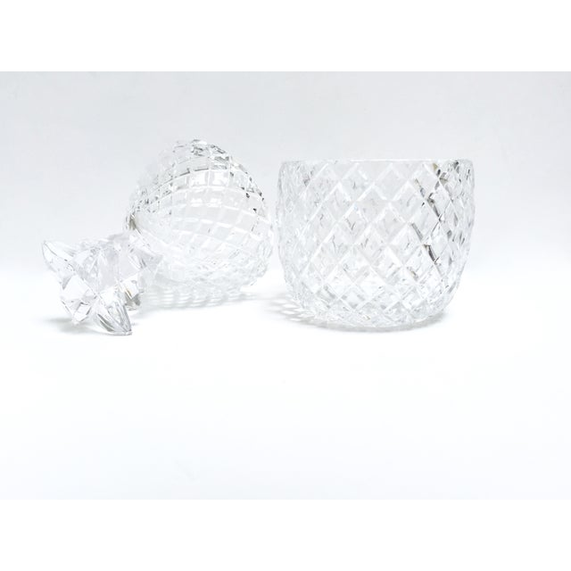 Vintage Large Clear Glass Pineapple With Lid - Image 2 of 9
