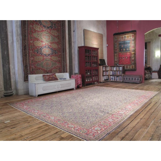 A fantastic Turkish carpet from the Kayseri region with a highly unusual design and color palette. Though inspired by...