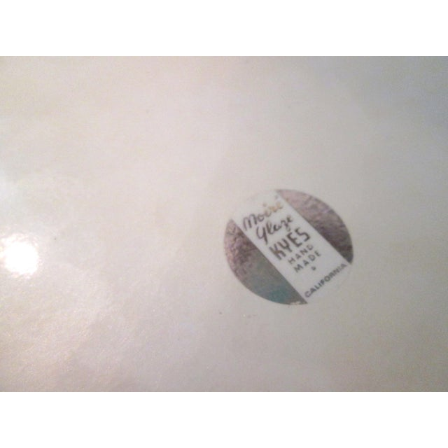Mid-Century Modern Off-White Kyes Moiré Tray - Image 5 of 5
