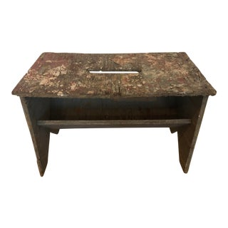 Rustic Splattered Paint Plywood Artist Bench For Sale