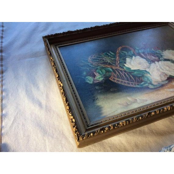 For Your Consideration.... A truly beautiful c.1900 American Country House Style Oil on Canvas in a Period Frame In Super...