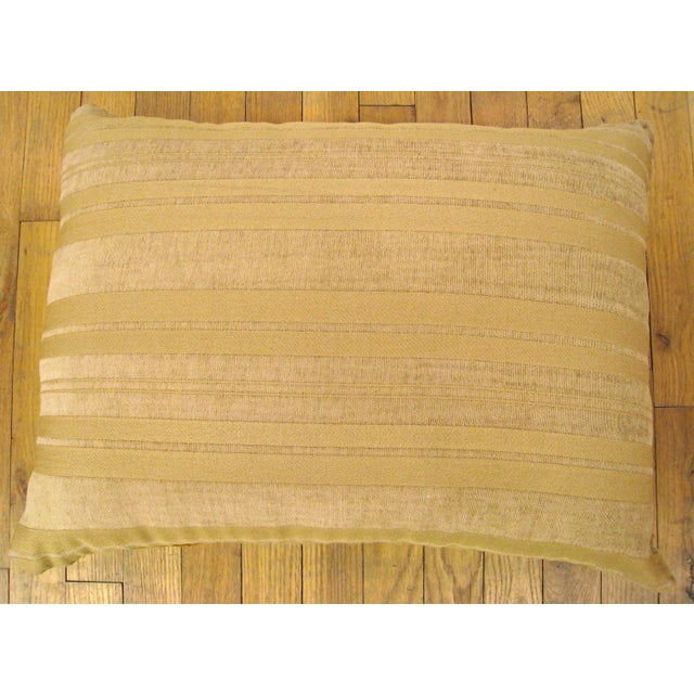 Traditional Antique French Aubusson Carpet Pillow For Sale - Image 3 of 4