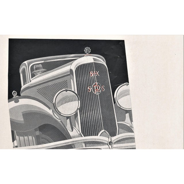 Original 1932 French Art Deco automobile advertisement for Panhard. Panhard, originally called Panhard and Levassor, was...