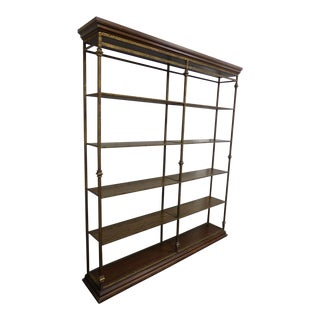 Vintage Spanish Style Wrought Iron Bookcase