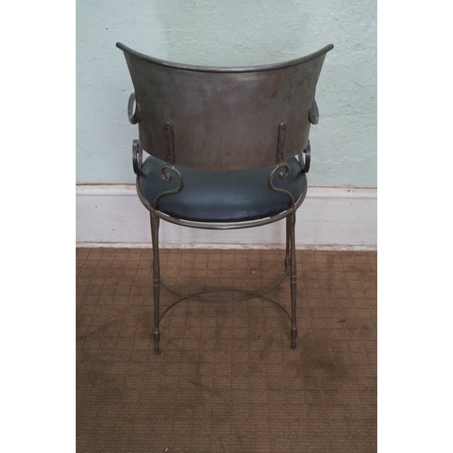 Quality Steel Directoire Style Klismos Arm Chair For Sale - Image 4 of 10