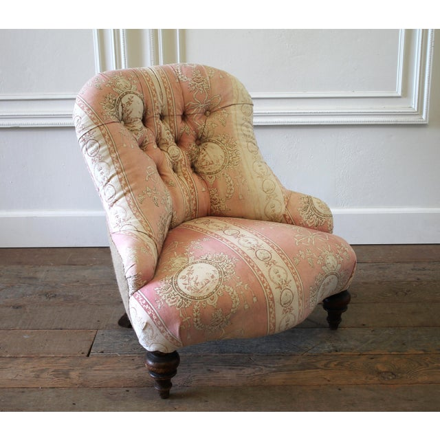 19th Century Napoleon III Button Tufted Chair For Sale - Image 4 of 12