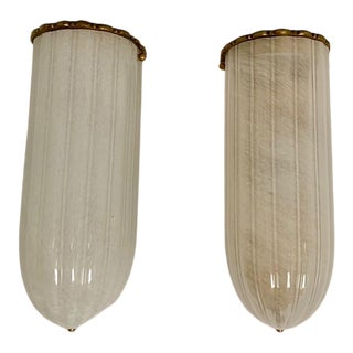 Visual Comfort White Cathedral Sconces - a Pair For Sale