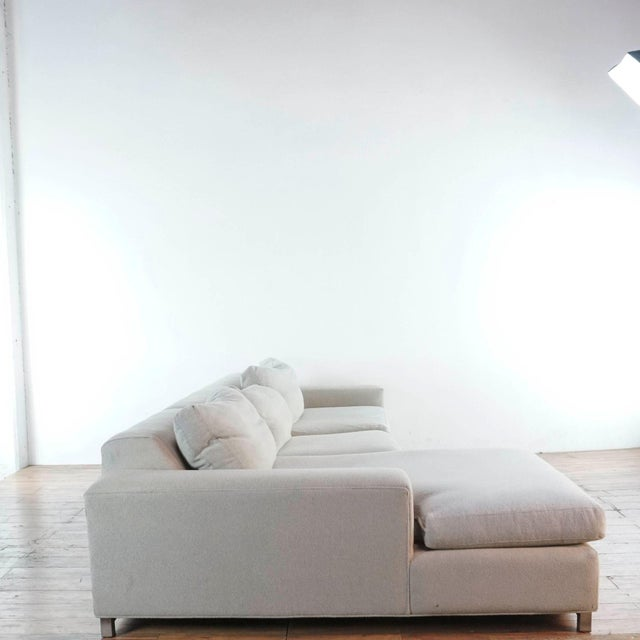 Metal Room & Board Upholstered Sectional Sofa For Sale - Image 7 of 11
