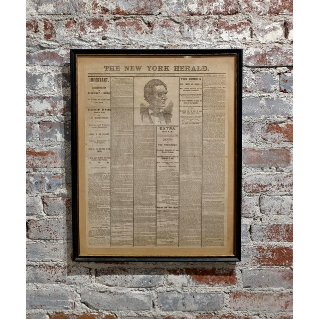 Lincoln Assassination The New York Herald 15 April 1865 Front Page For Sale - Image 9 of 9