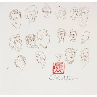 Rip Matteson Portrait Studies in Ink, Late 20th Century For Sale
